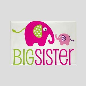 Elephants2BigSisterV2 Rectangle Magnet