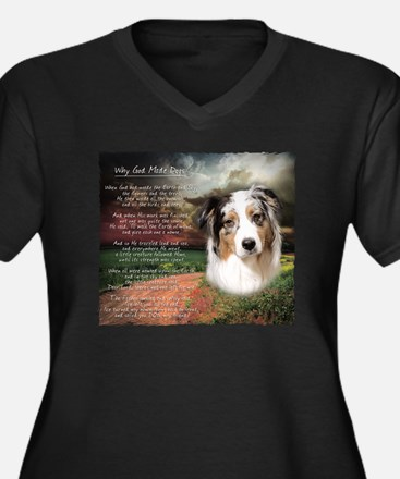 godmadedogs Women's Plus Size Dark V-Neck T-Shirt