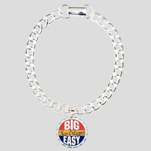 New Orleans Vintage Labe Charm Bracelet, One Charm