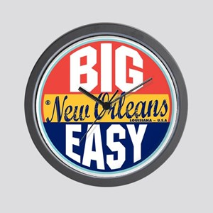New Orleans Vintage Label W Wall Clock