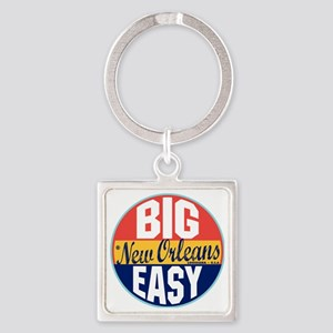 New Orleans Vintage Label W Square Keychain