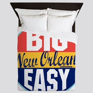 New Orleans Vintage Label W Queen Duvet