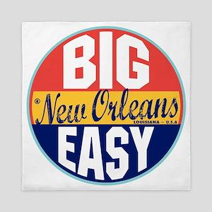 New Orleans Vintage Label W Queen Duvet