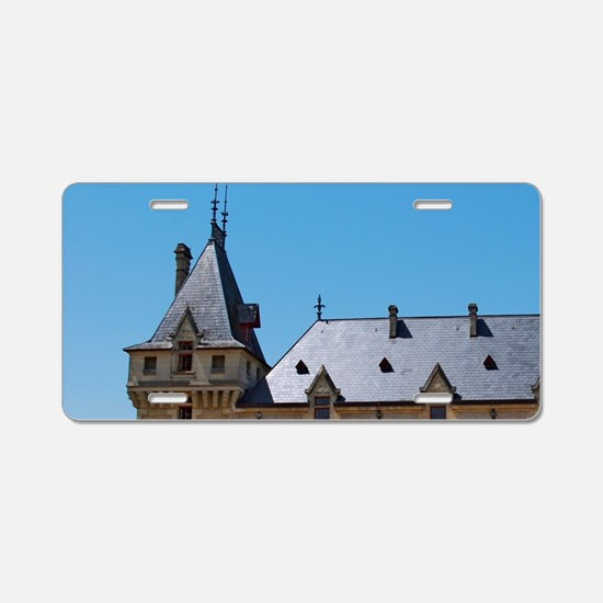 The medieval Chateau de Pre Aluminum License Plate