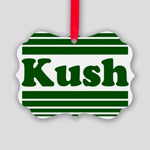 2000x2000kushgreen2clear Picture Ornament