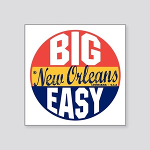 "New Orleans Vintage Label B Square Sticker 3"" x 3"""