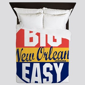 New Orleans Vintage Label B Queen Duvet