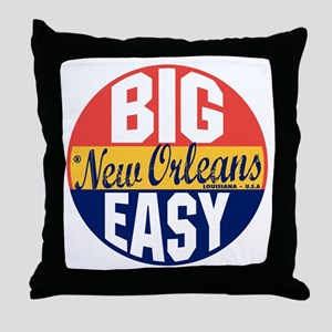 New Orleans Vintage Label B Throw Pillow