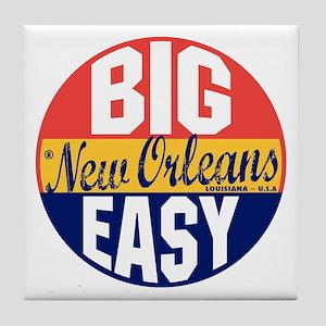 New Orleans Vintage Label B Tile Coaster