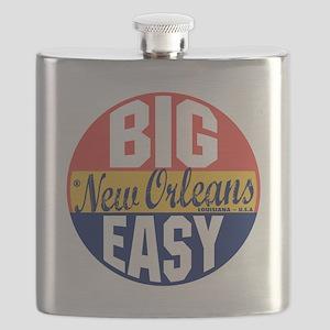 New Orleans Vintage Label B Flask