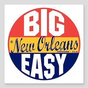 "New Orleans Vintage Labe Square Car Magnet 3"" x 3"""