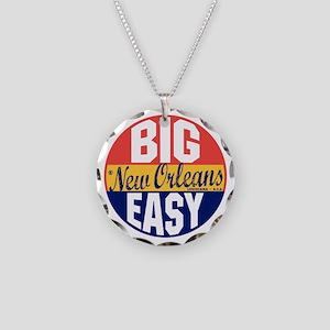 New Orleans Vintage Label B Necklace Circle Charm