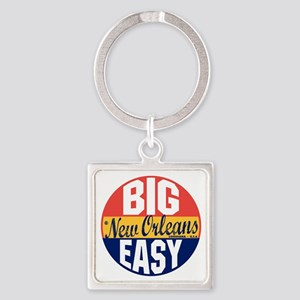 New Orleans Vintage Label B Square Keychain