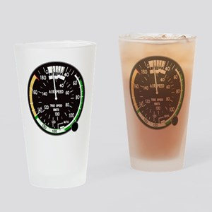 Airspeed Indicator Drinking Glass