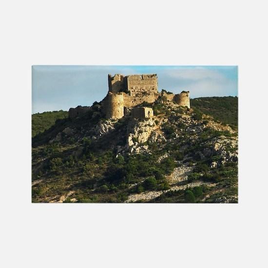 The Chateau dAguilar Cathar hillt Rectangle Magnet