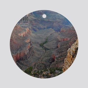 9x11_over-front-canyon Round Ornament