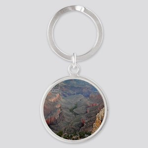 9x11_over-front-canyon Round Keychain