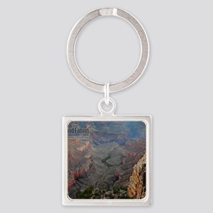 9x11_over-front-canyon Square Keychain