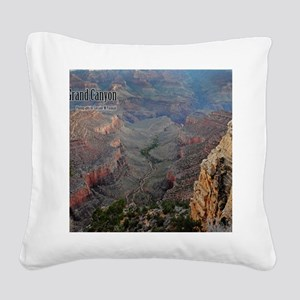 9x11_over-front-canyon Square Canvas Pillow