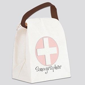 Sonographer pink Canvas Lunch Bag