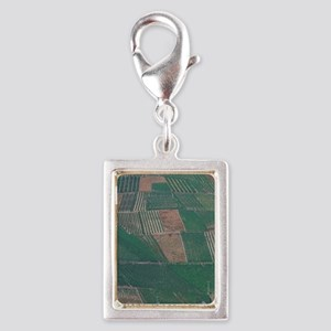 Vineyards along the Mosel Ri Silver Portrait Charm