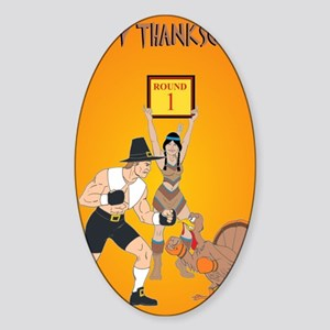 MMA Thanksgiving Sticker (Oval)