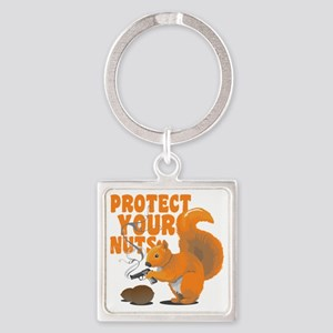 protectyournuts Square Keychain