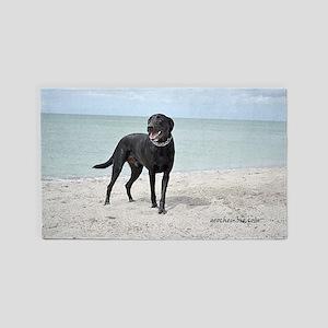 Black Labrador 3'x5' Area Rug