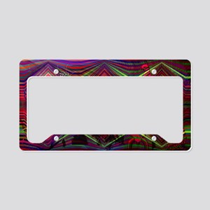 peacock abstract wave backgro License Plate Holder