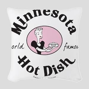 Hot Dish_tee Woven Throw Pillow