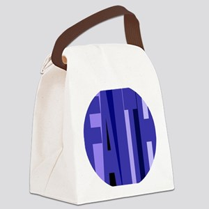 Faith Shades of Blue Canvas Lunch Bag