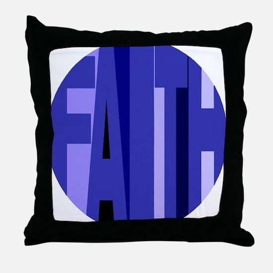Faith Shades of Blue Throw Pillow