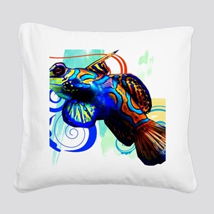 Mandarin Dragonet Square Canvas Pillow