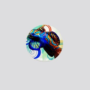 Mandarin Dragonet Mini Button