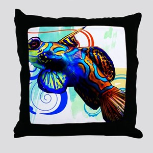 Mandarin Dragonet Throw Pillow