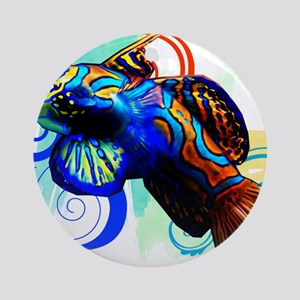 Mandarin Dragonet Round Ornament