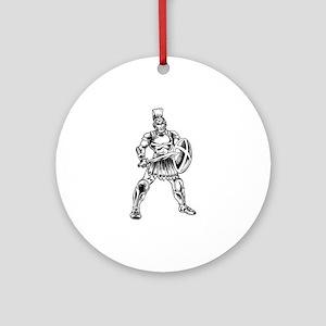 Roman Soldier Ornament (Round)