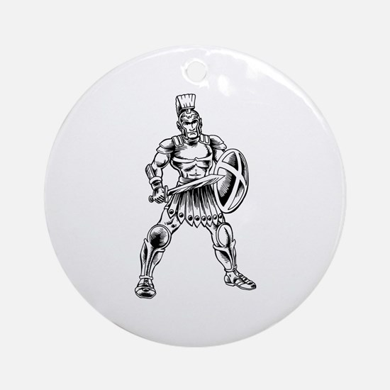 Roman Soldier Ornament (Round)