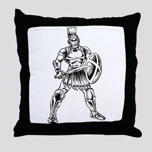 Roman Soldier Throw Pillow
