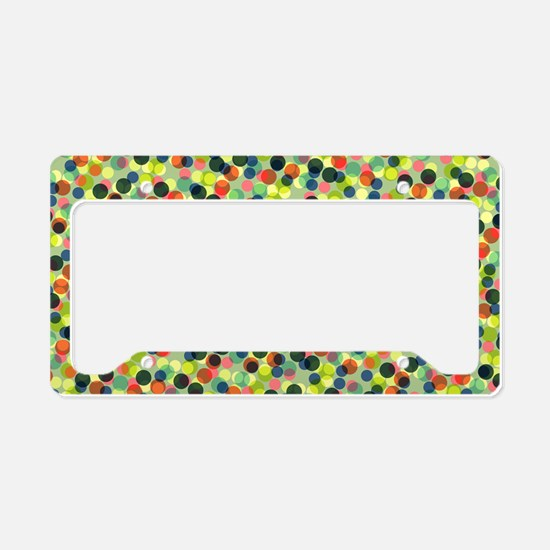 Bags Green Dots License Plate Holder