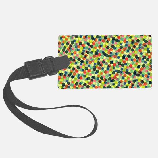 Bags Green Dots Luggage Tag