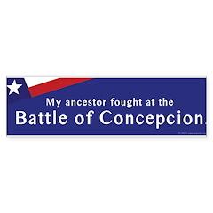 Battle of Concepcion Bumper Bumper Sticker
