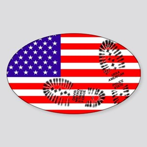 USSA American Police State Oval Sticker