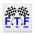 FTF B&W Tile Coaster