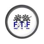FTF B&W Wall Clock