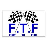 FTF B&W Rectangle Sticker