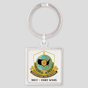 MICC---FORT-KNOXwtext Square Keychain