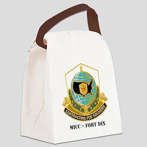 MICC---FORT-DIXwtext Canvas Lunch Bag