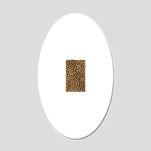 443 Cheetah 20x12 Oval Wall Decal