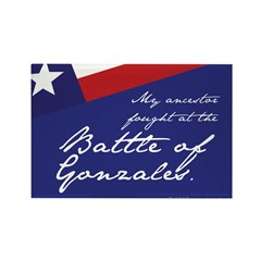 Battle of Gonzales Rectangle Magnet (100 pack)